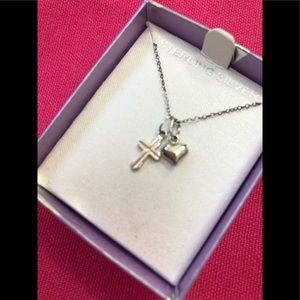 Jewelry - Heart ❤️ and Cross Necklace